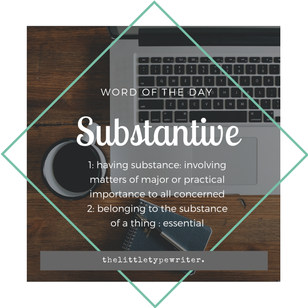 substantive-word-of-the-day
